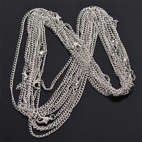 Wholesale 10 Pieces/Lot Silver Plated Making DIY Hard Link Chain Necklace 22''