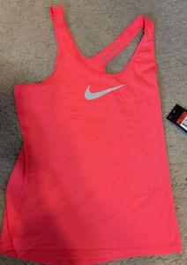 Nike womens tank top workout large leg l pink top