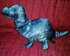 Russ Berrie Zonies Plato Brontosaurus Dinosaur Blue Shimmery 16in Beanbag Plush