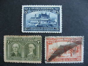Canada Tercentenary Sc 99, 100, 103 all faulty, see, expand pictures