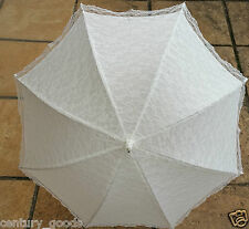 RETRO  IVORY/OFF-WHITE VICTORIAN LACE, BRIDESMAID WEDDING UMBRELLA