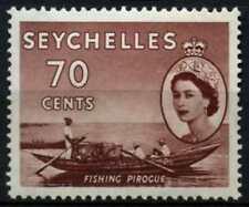 Seychelles 1954-1961 SG#183a, 70c Purple-Brown Fishing Pirogue MH #D66937