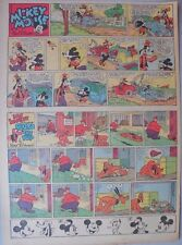 Mickey Mouse Sunday Page by Walt Disney from 9/17/1939 Tabloid Page Size
