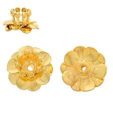 10x perlas tapas perlkappen remates filigrana flores para 4 mm perlas doradas