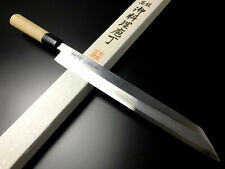 "Japanese Chef's Knife ARITSUGU Yanagi Kiritsuke Blue Steel  270mm 10.62"" Name"