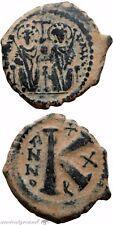 Byzantine Empire Justin Ii Half Follis Coin 565-578 Ad Antioch Theoupolis Year 1