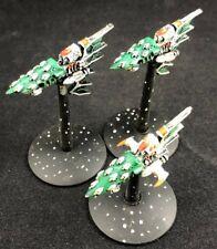 Aconite Class Frigates x3 - Eldar - Battlefleet Gothic - BFG - OOP