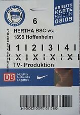TV TICKET 2008/09 Hertha BSC Berlin - 1899 Hoffenheim
