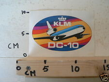 STICKER,DECAL KLM DC-10 AIRPLANE