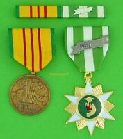 Vietnam Campaign Medal & Vietnam Service Medal with mounted RIBBON BAR  T1