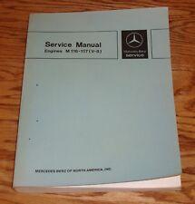 1979 Mercedes Benz Engines M 116 - 117 V-8 Shop Service Manual 79 SE SEL SL SLC