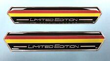 2 X 100mm Bandera Alemana Edición Limitada Pegatinas/Calcomanías-Gel semicirculares de alto brillo