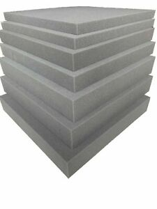 Upholstery GREY FOAM Sheet Cut To Size High Density Any Thickness Size sofa