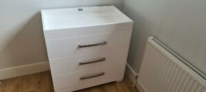 Silver Cross Notting Hill Dresser / Drawers with Changing Table (White Gloss)