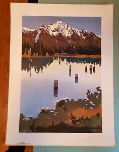 Byron Birdsall Pioneer Peak print Alaska Federal Savings and Loan 1977 issue