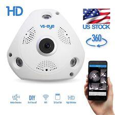 IP WIFI Panoramic Camera VR 360° 2.0MP Two Way Audio Motion Detection Fish Eye