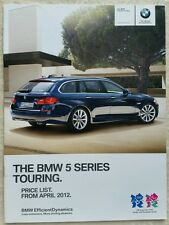 BMW 5 SERIES TOURING CAR SALES BROCHURE JULY 2012 FOR 2013 MODEL YEAR