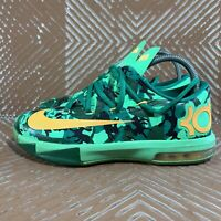 Nike KD VI GS Camo Easter Green Atomic Mango 6Y Women's 7.5 Low Top 599477-303