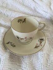 VINTAGE Cup & Saucer W Flower BAVARIA TIRSCHENREUTH 100 GERMANY