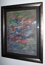 Benanteur Abdallah encre papier signée abstraction peinture algérienne moderne