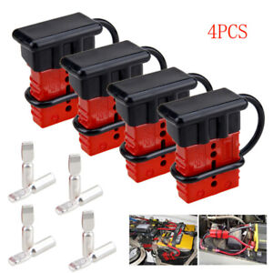 4pcs 175A Quick Connector Tools Winch Trailer Battery Connect/Disconnect Plug US
