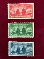 PRC Stalin and Mao Originals NOT reprints...Undervalued. Sc# 1L176-78 Set of 3
