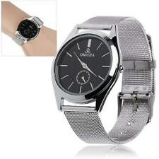 Fashion Stainless Steel Band Quartz Analog Men Wrist Watches For Lover's Gift BE