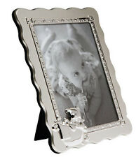 "FIRST YEAR BABY PHOTO FRAME 5x7""PHOTO SILVER PLATED CHRISTENING GIFT NEWBORN"