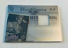 B10,802 - 2008 Americana II Headliners Material #5 Willie Mays Relic #/100