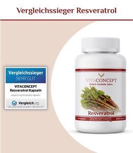 Resveratrol mit 500mg pro Kapsel - 90 Kapseln (3 Monate) - Trans-Resveratrol
