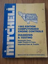 1983 Computer Engine Diagnosis & Testing By Mitchell All Cars & Trucks