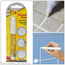 WHITE GROUT PEN REVIVER STICK KITCHEN SHOWER TILE BATHROOM CLEAN TILES ANTIMOULD