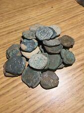 """1600's Spanish """"Lion & Castle"""" Copper 8 Mravedis Cob Pirate Treasure Coin 1600"""
