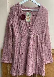 Avoca Renaissance Rose Pink Romantic Style Jumper 14/16uk Very Pretty!! NWTG's