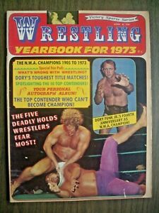 WRESTLING YEARBOOK '73 #4 JEAN FERRE-ROTY! DORY'S 4TH ANN-AS CHAMP! SKY LOW LOW!
