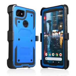 For Google Pixel 2 / 2 XL Full Body Armor Rugged Belt Clip Holster Defender Case