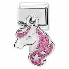 Genuine Nomination Classic Glitter Unicorn Drop Charm 331805/13 /