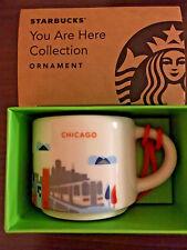 Starbucks Demitasse YAH 2017 CHICAGO You Are Here Mini mug 2 oz Espresso cup