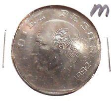 CIRCULATED 1982M 10 PESOS MEXICAN COIN (010116)