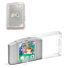 Clear Carts Case Sleeve Box for Nintendo N64 Cartridge CIB Protectors 10PCS New