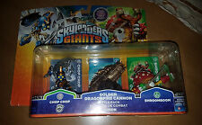 Skylanders Giants Golden Dragonfire Cannon Chop Chop Shroomboom New Damaged Pack