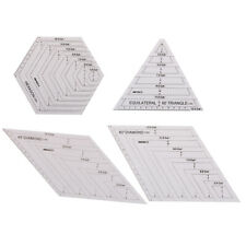 Quilting Patchwork Ruler Triangle Rhombus Hexagon Acrylic Template Sewing T YU