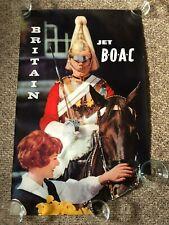 Vintage 1960's Original Jet BOAC Britain Poster