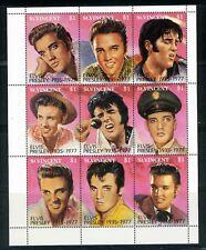 St. Vincent Mini-sheet, 1992 Elvis Presley commemorative  with COA, MNH, CV=$11