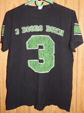 3 Three Doors Down Band Music Graphic T shirt Tee Black green kryptonite Sz M C4