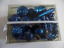 3 Dz Blue Variety Pack Shatter Resistant Christmas Patriotic Ornament Decoration