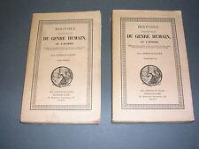 Esotérisme Fabre d'Olivet histoire du genre humain 2 volume complet Dorbon 1900