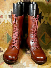 B.F.Goodrich Army Military Brown Leather Combat Boots Mens Size 8EE made in USA