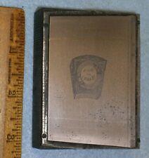 Antique RAM Royal Arch Mason BOOK OF  MARKS Zinc Printing Block E106