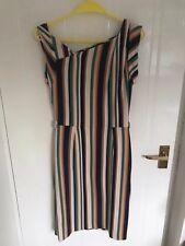 Mango Ladies Striped Pencil/Bodycon Dress Size M